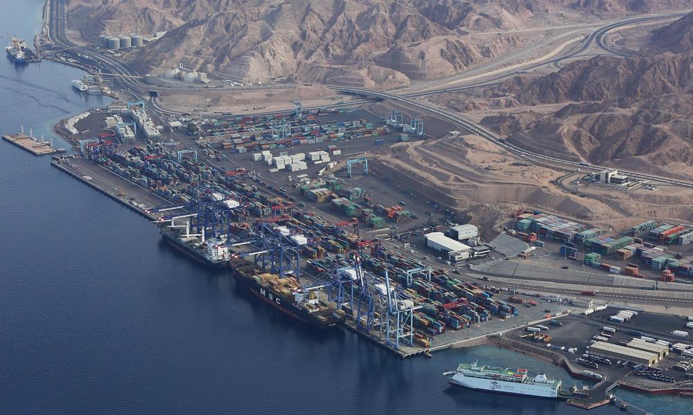 gom hàng rời đi cảng Aquaba- Jordan