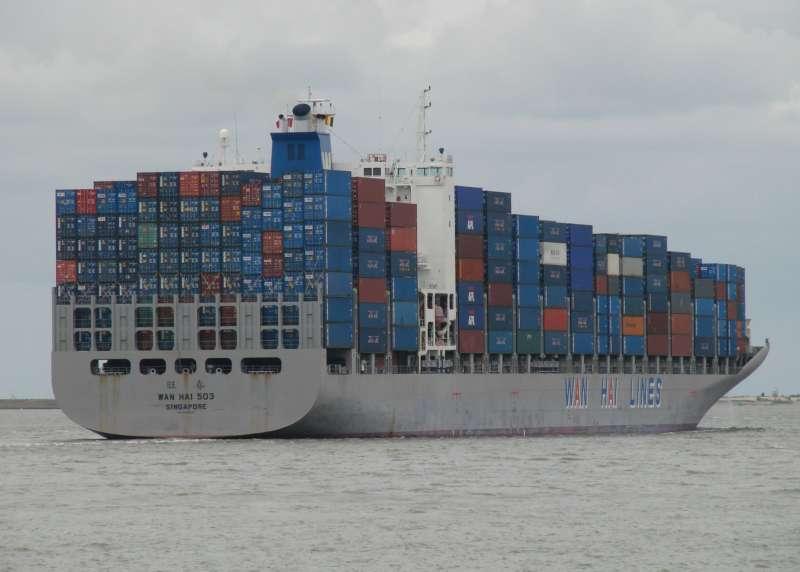 tàu container trong vận tải biển