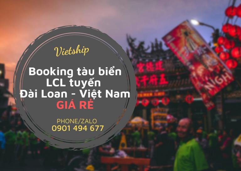 Booking tàu biển LCL Đài Loan về Việt Nam